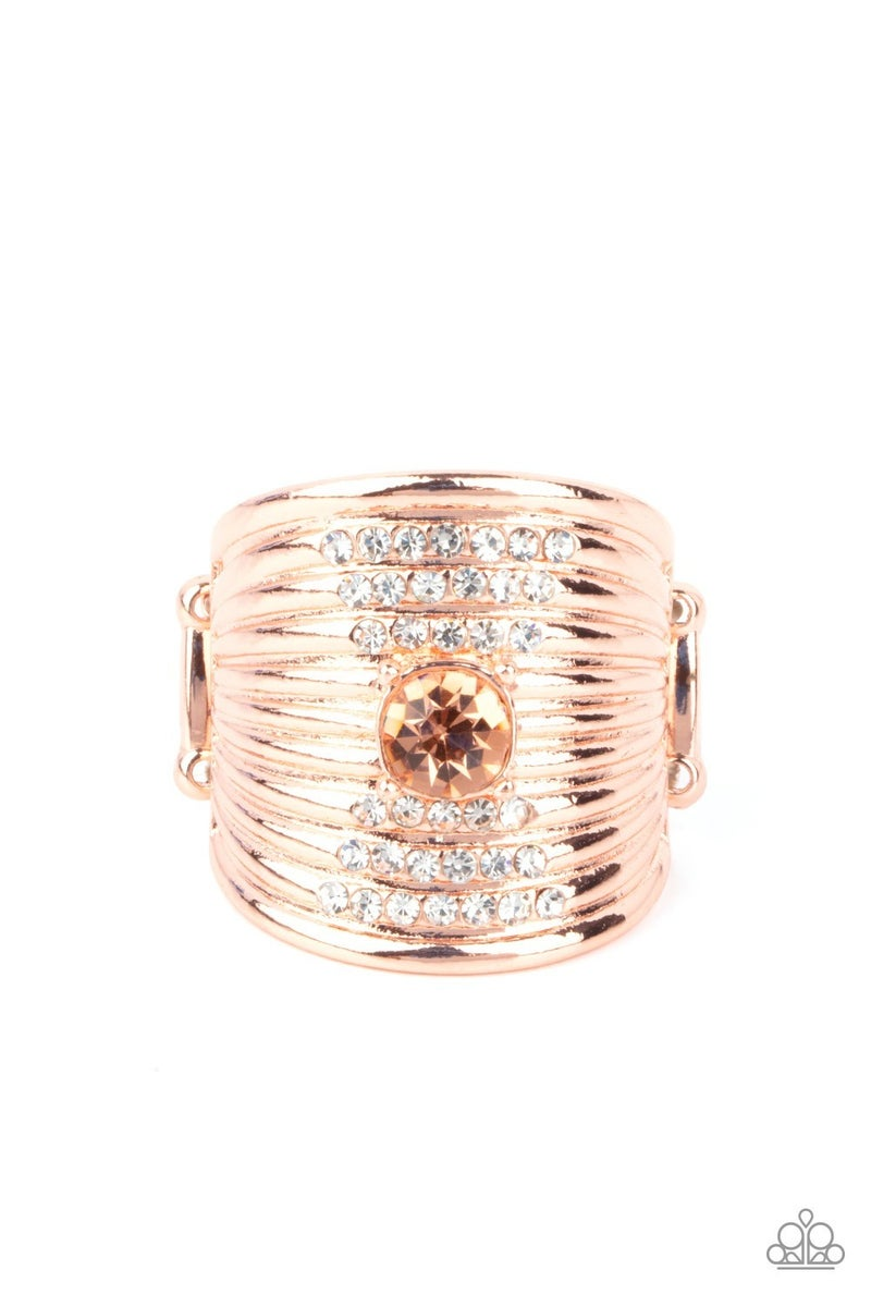 Crystal Corsets Copper Ring