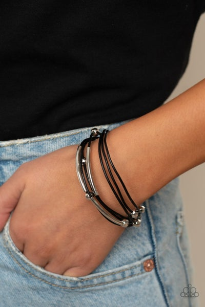 Magnetically Modern Black Bracelet