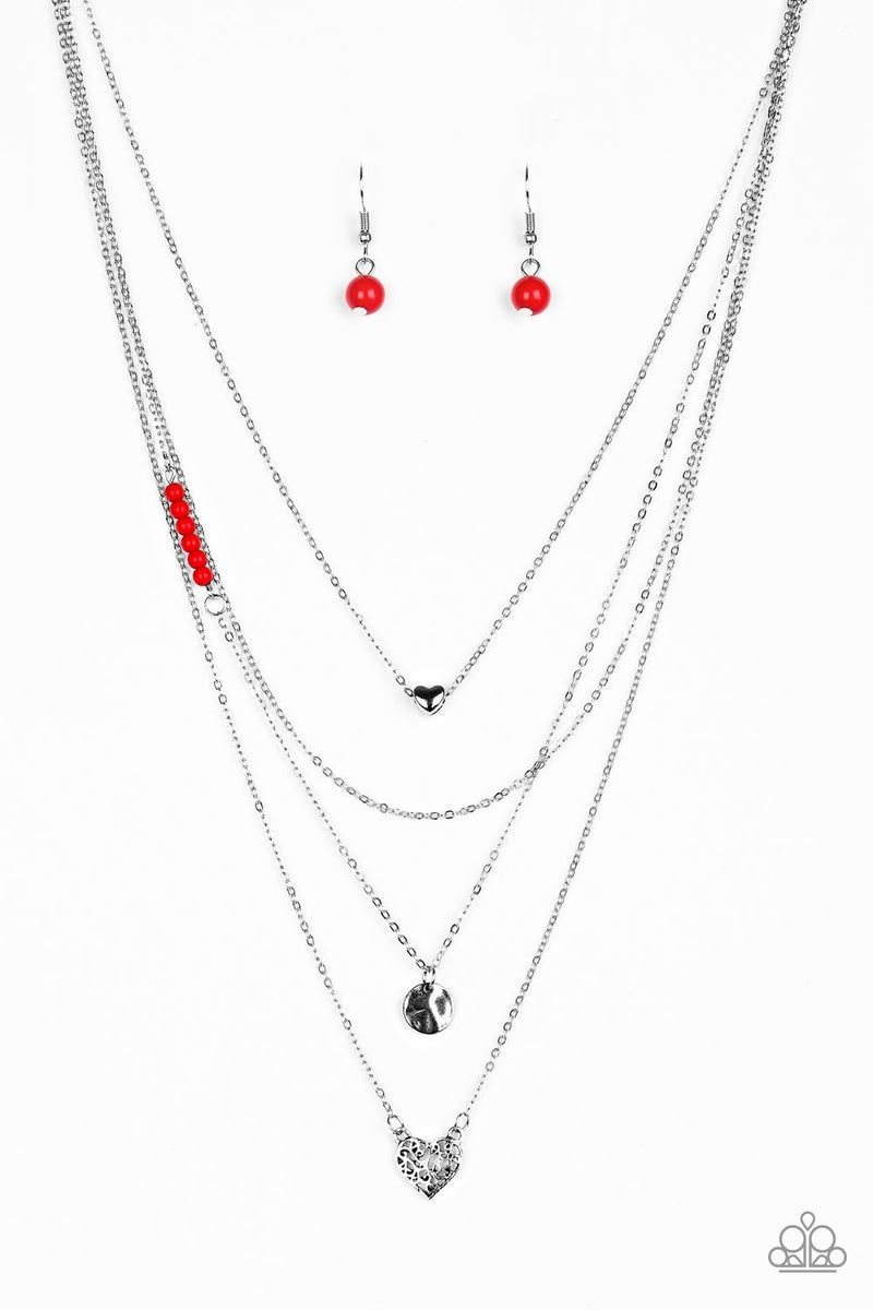 Gypsy Heart Red Necklace