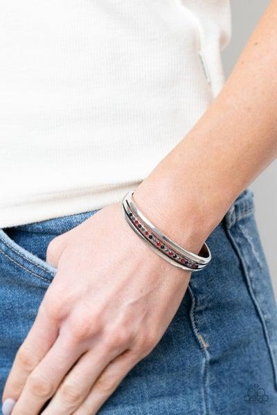 A Point Of Pride - Red & Black Rhinestone Bracelet - PREORDER