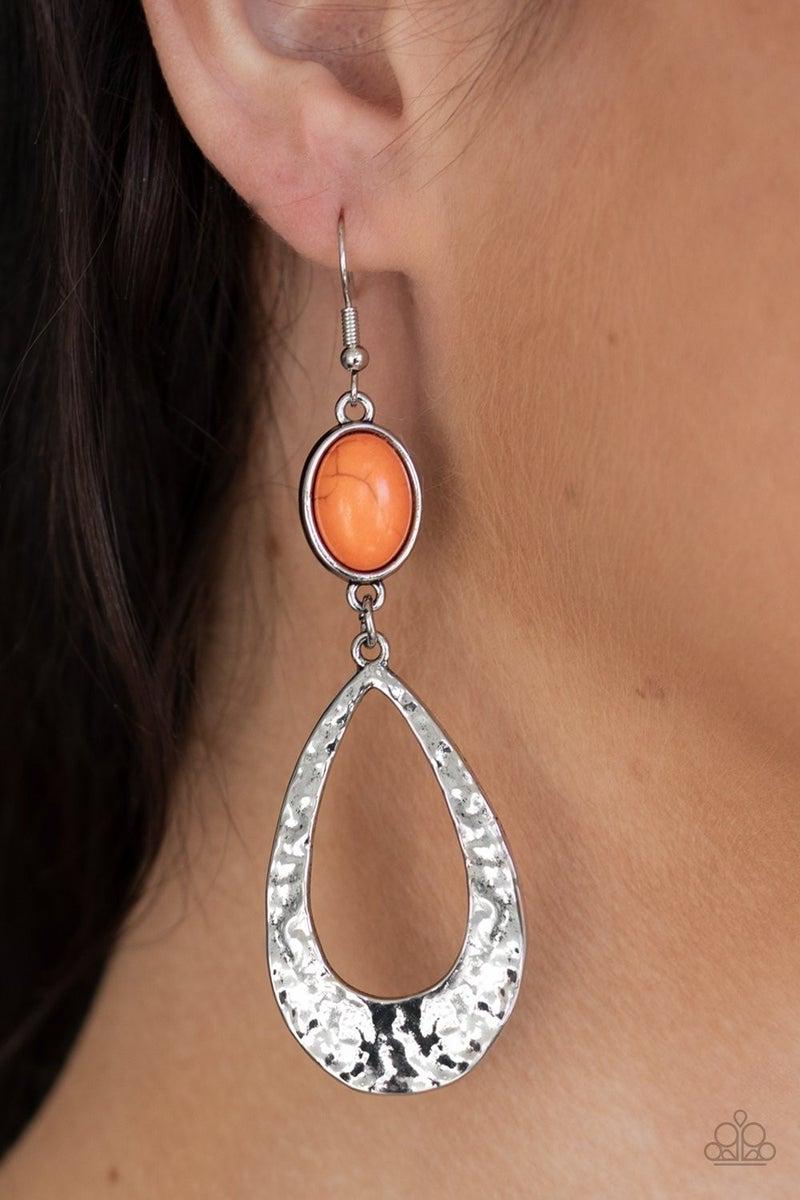 Badlands Baby Orange Earring