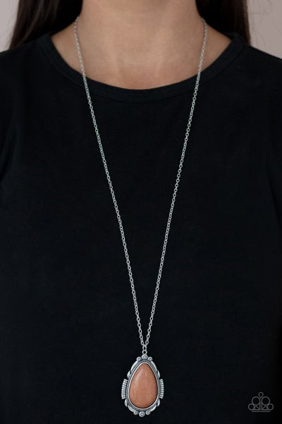 Western Fable Brown Necklace - PRECLAIM