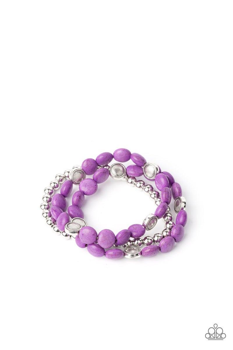 Desert Verbena  Purple Bracelets
