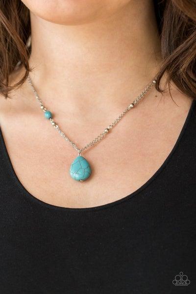 Peaceful Prairies Blue Necklace