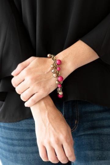 Grit and Glamour Pink Bracelet