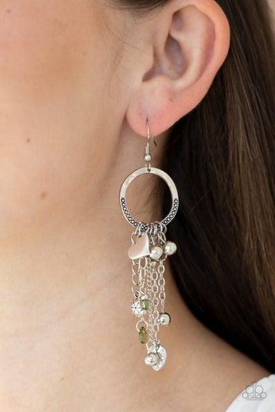 Charm School Green Earring