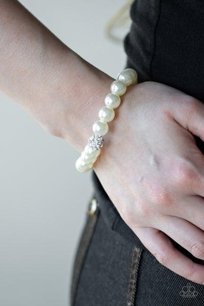 POSHing Your Luck White Pearl Bracelet