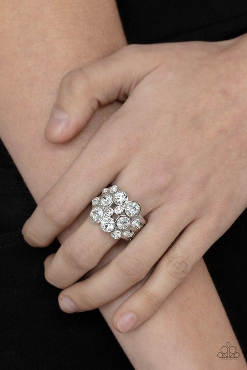 Bubbling Bravado White Ring - PREORDER