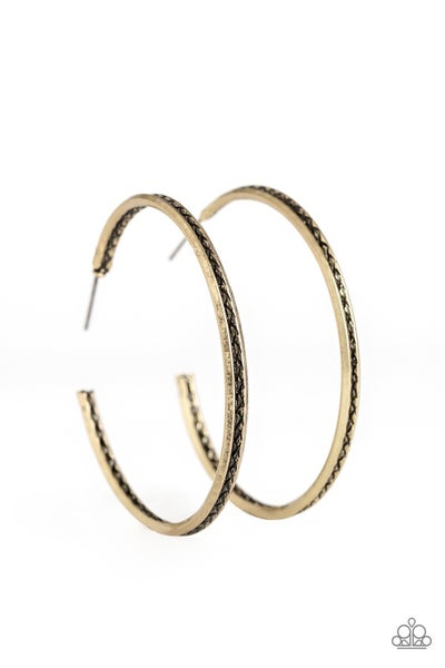 Texture Tempo Brass Earring