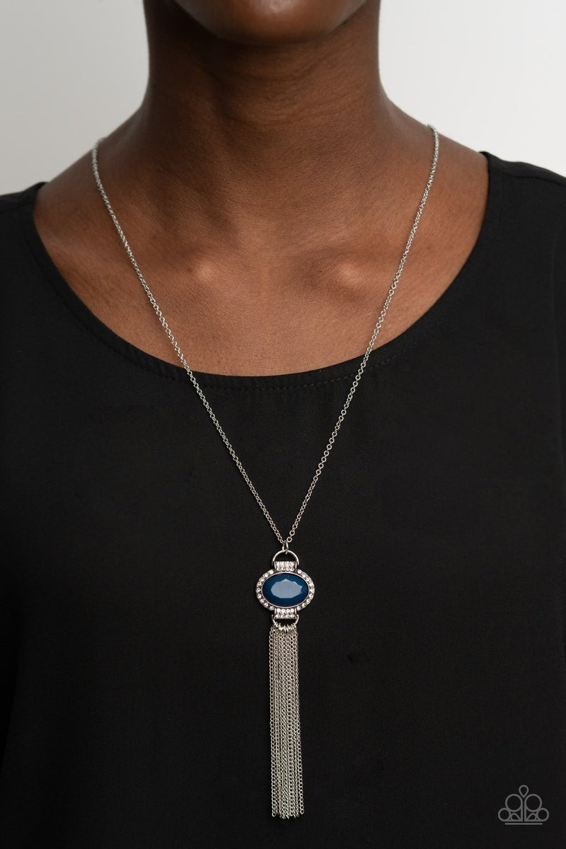 What Glows Up Blue Necklace - Sparkle with Suzanna