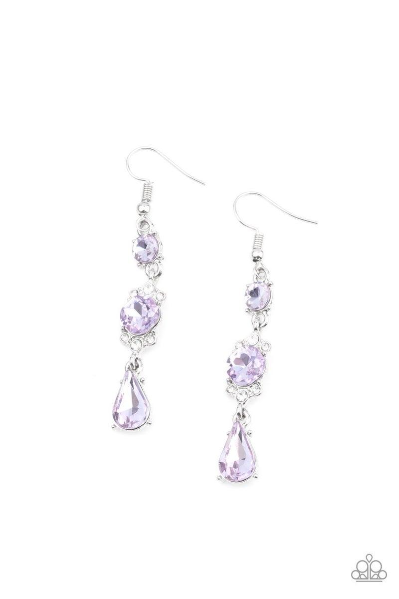 Outstanding Opulence Purple Earring