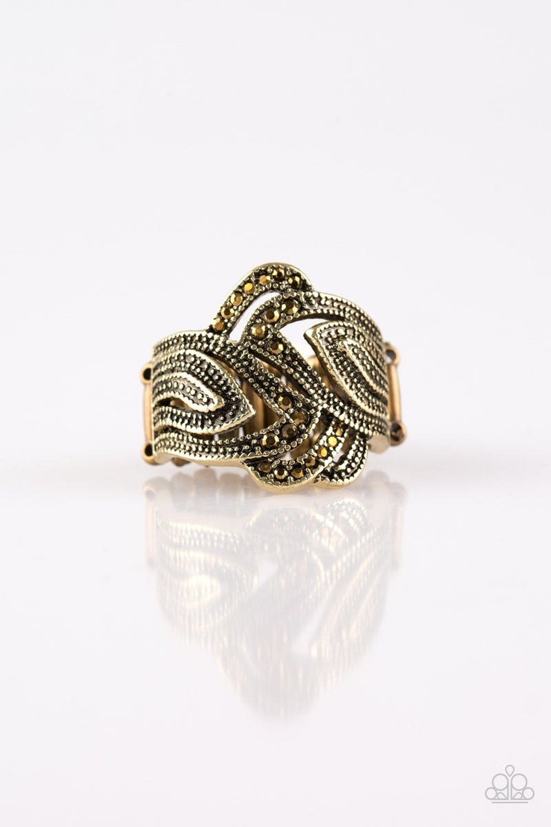 Fire and Ice Brass Ring