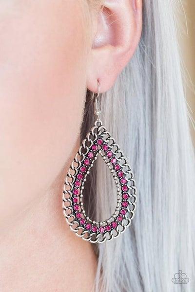 Mechanical Marvel Pink Earring