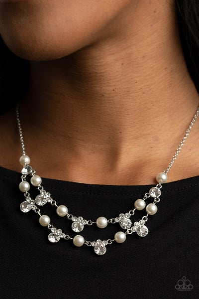 Royal Announcement White Pearl Necklace