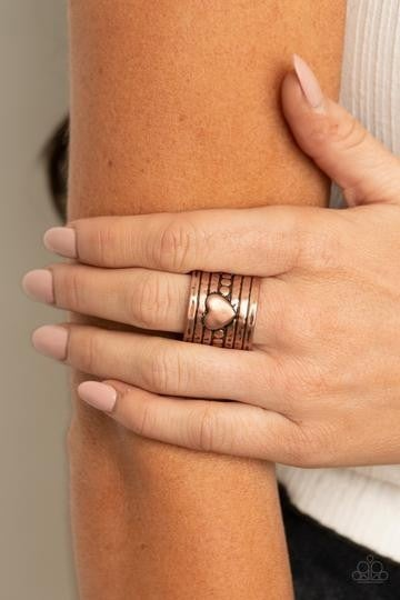 Don't Lose Heart Copper Ring
