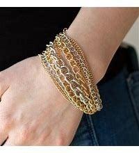 Metallic Horizon Gold Bracelet