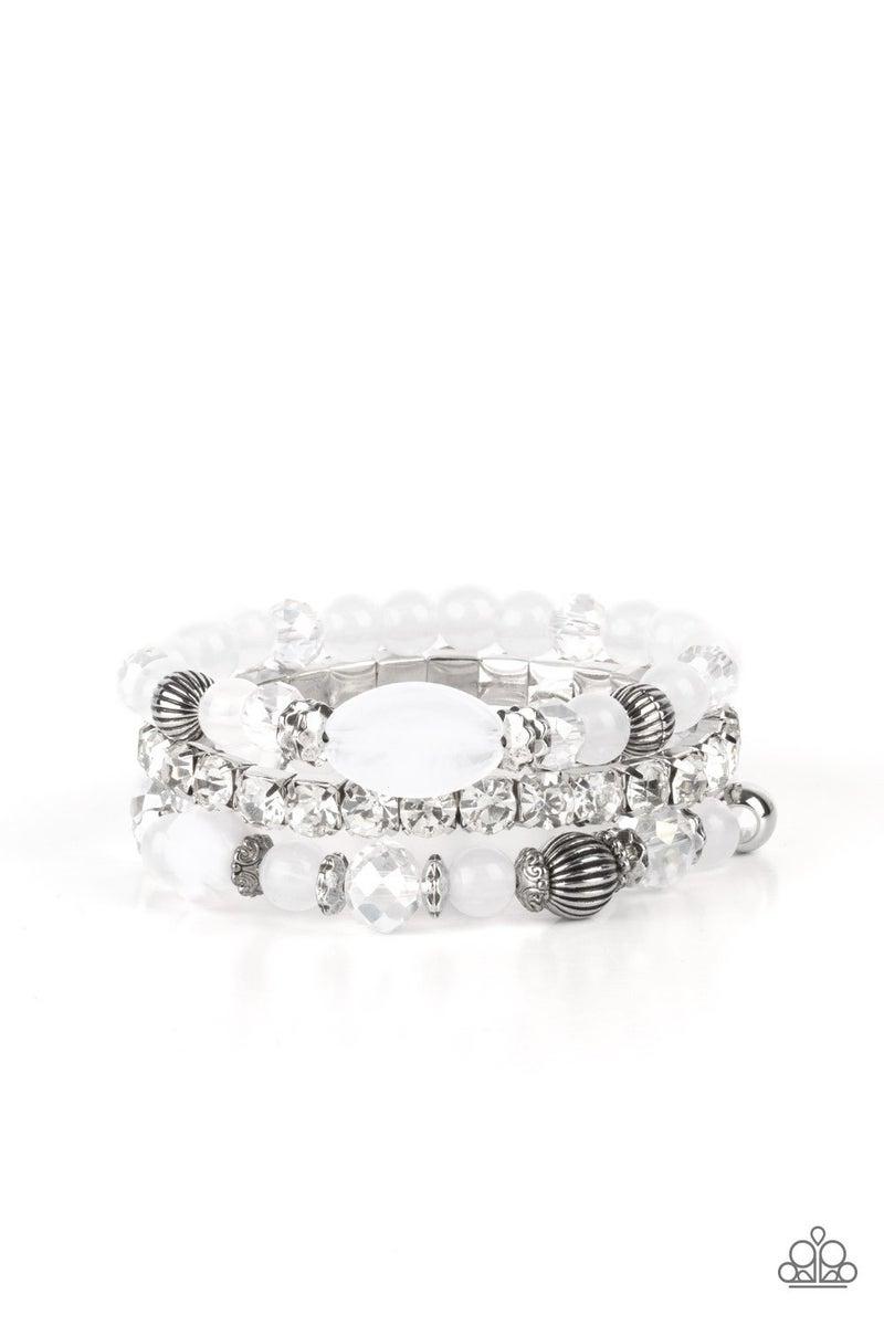 Ethereal Etiquette White Bracelet
