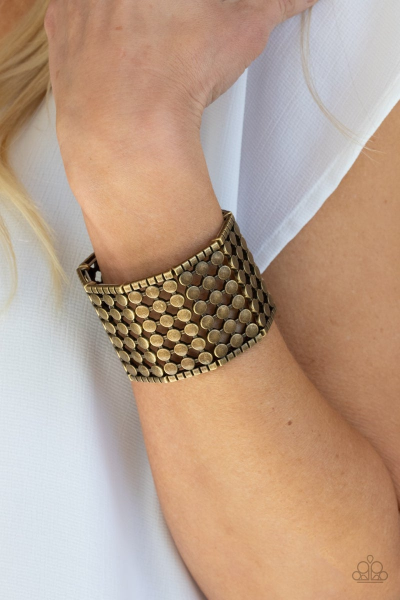 Cool and CONNECTED Brass Bracelet-Sparkle with Suzanna