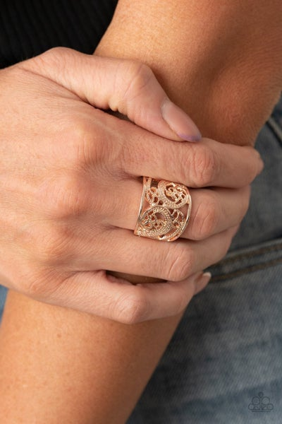 Turning The Tides Rose Gold Ring - Sparkle with Suzanna