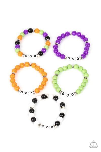 Halloween BOO Bracelets - Kids Pack of 5
