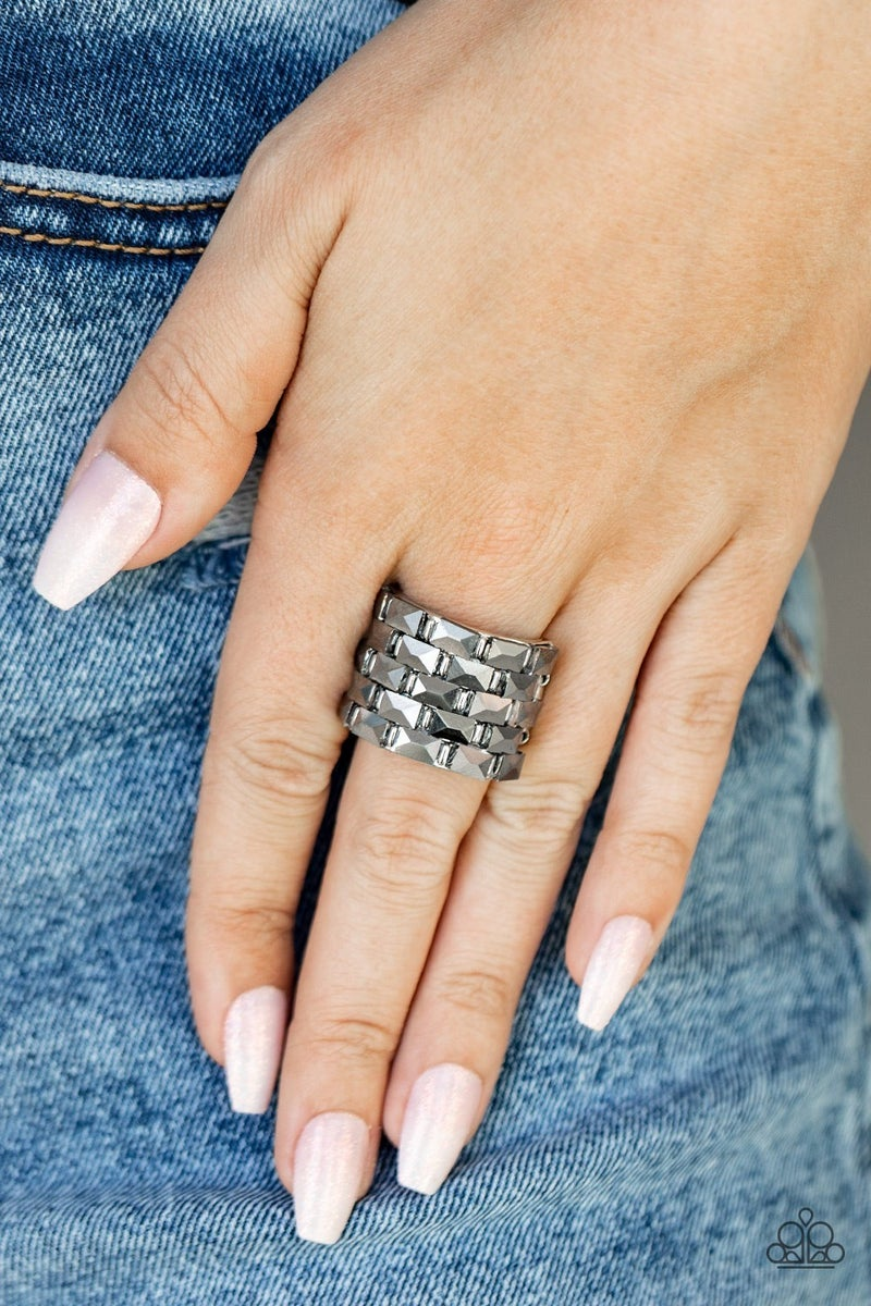 Checkered Couture Silver Ring - PREORDER