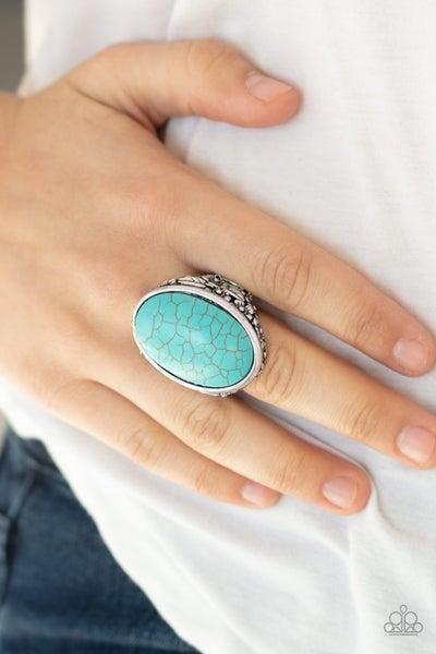Stonehenge Garden Blue Silver Ring
