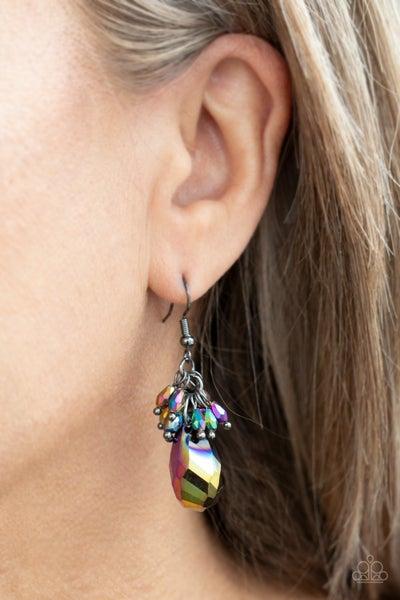 Well Versed in Sparkle Oil Spill Earrings