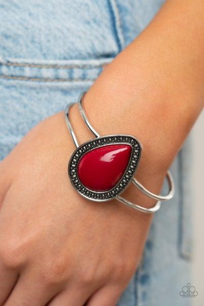 Over the top POP red bracelet