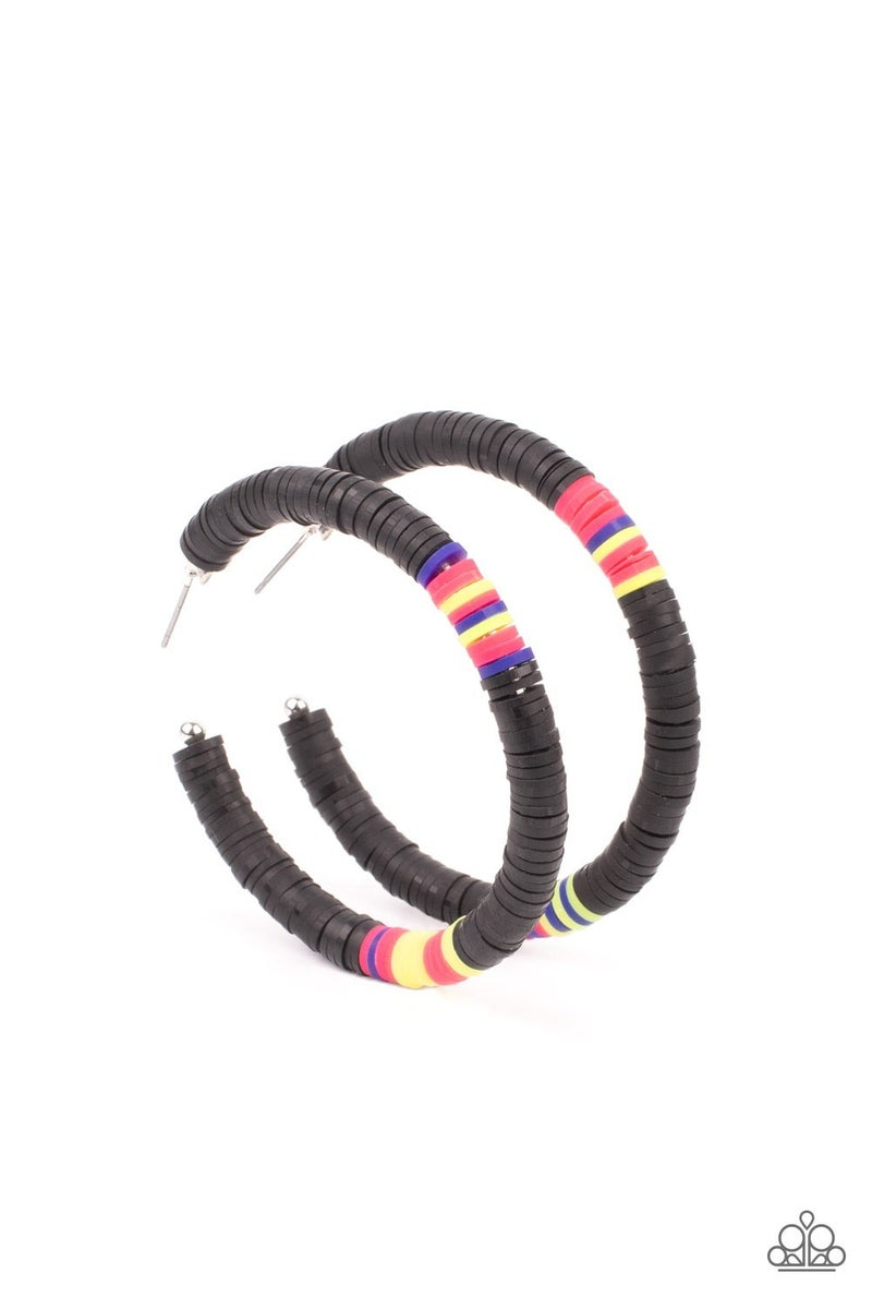 Colorfully Contagious Black Earrings - PREORDER