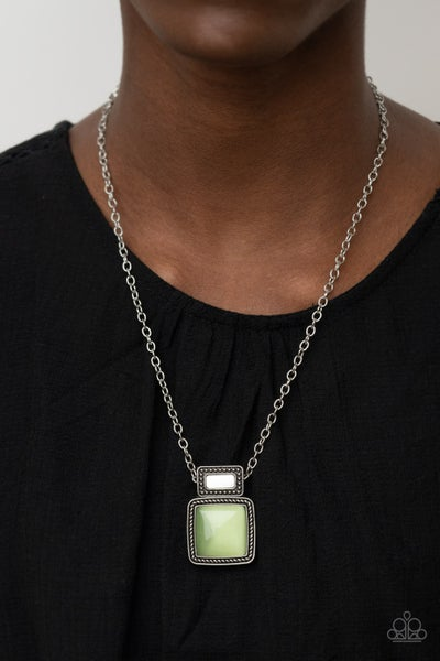 Ethereally Elemental Green Necklace