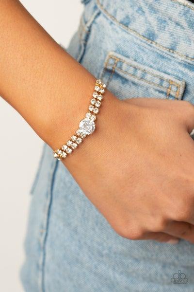 Gorgeously Glitzy Gold Bracelet