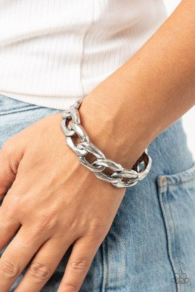 Living Off The Grit Silver Bracelet