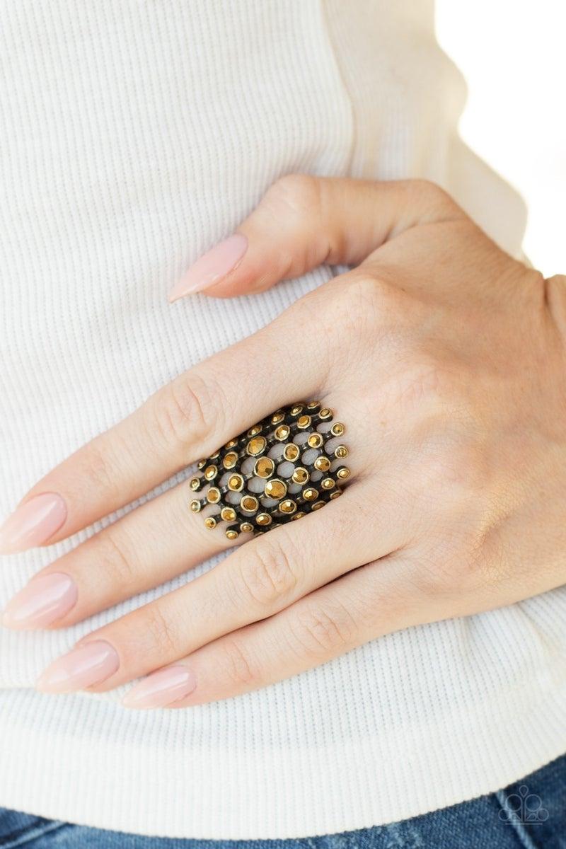 Fiercely Flashy Brass Ring