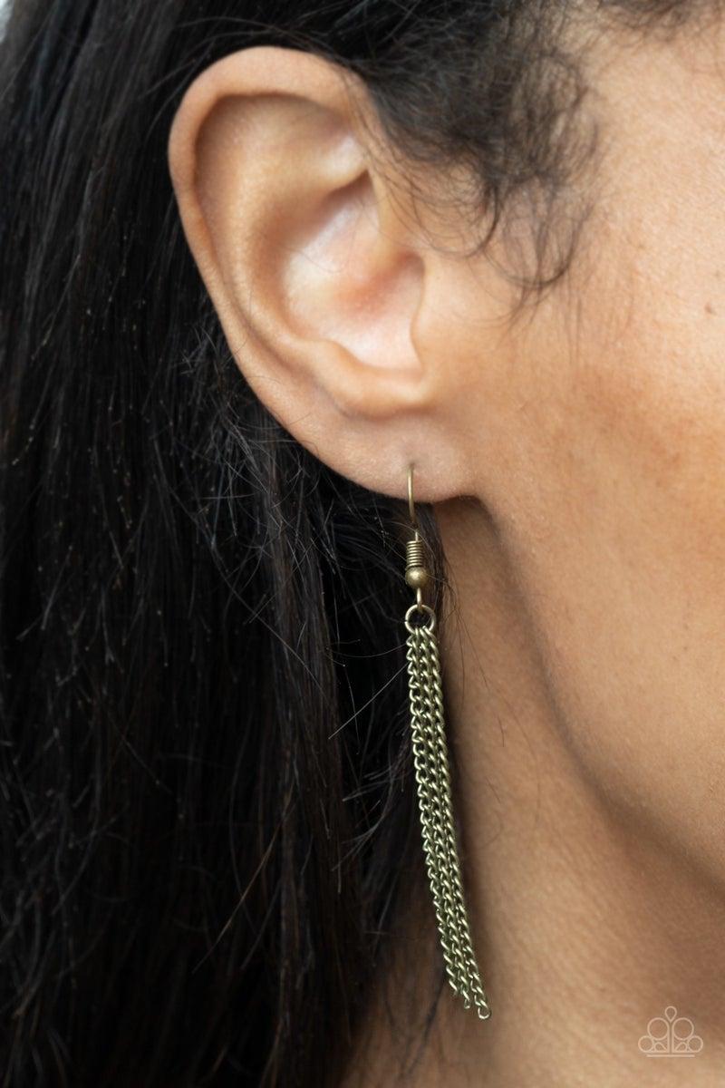 Harmonic Halos Brass Necklace