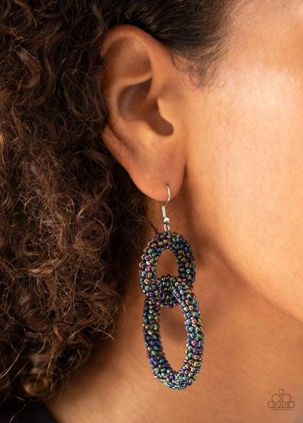 Luck Bead a Lady Multi Earring