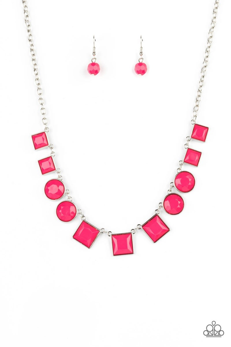 Tic Tac TREND Pink Necklace - PREORDER