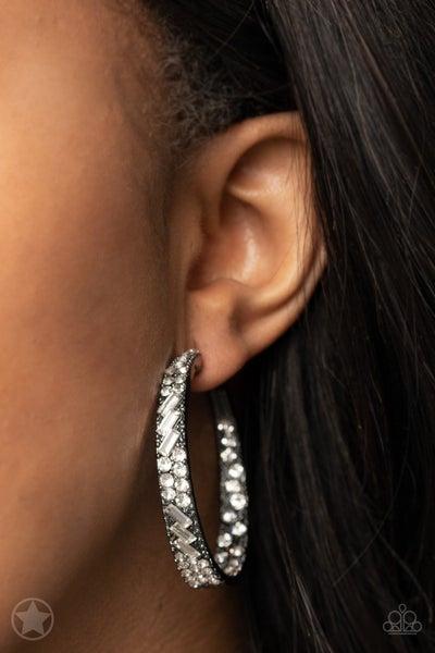 GLITZY By Association Gunmetal Earring