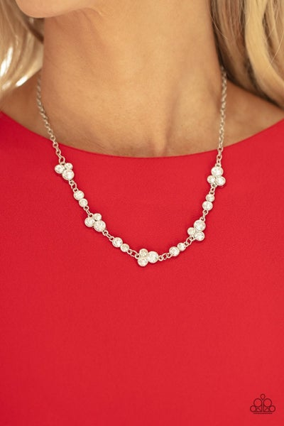 Gorgeously Glistening White Necklace