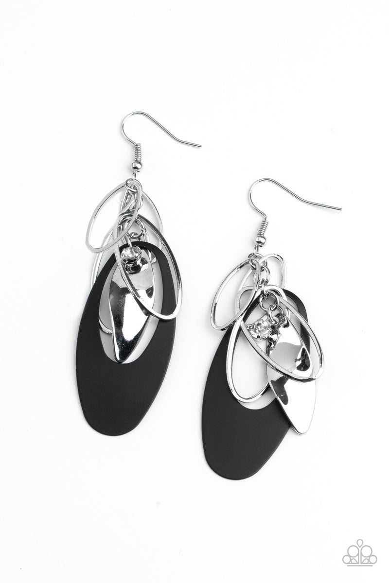 Ambitious Allure Black Earring