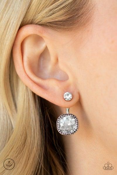Celebrity Cache White Post - Jacket Earring