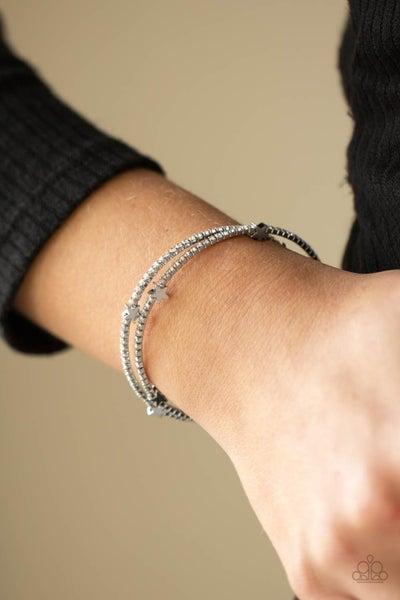 Let FREEDOM Bling Silver Bracelet