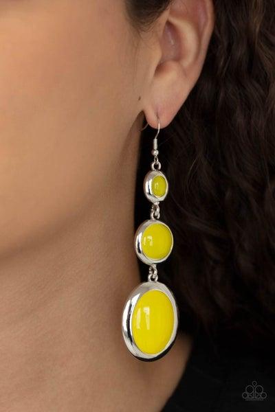 Retro Reality Yellow Earring