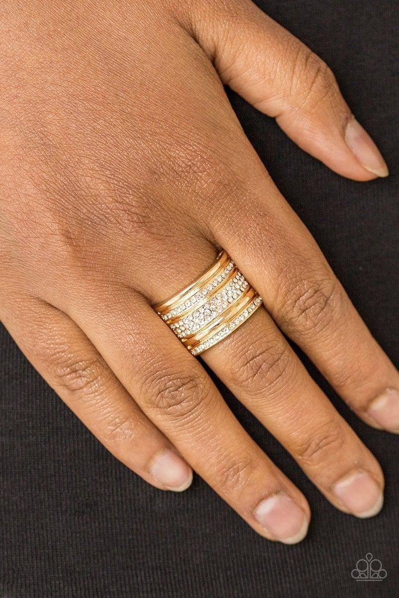 Top Dollar Drama Gold Ring