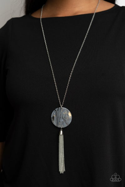 Up FAUX Grabs Silver Necklace