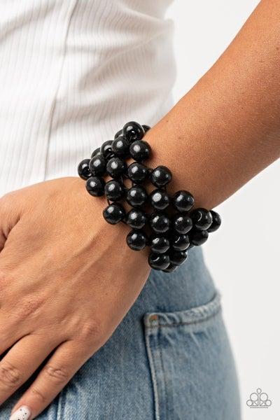 Tiki Tropicana Black Bracelet