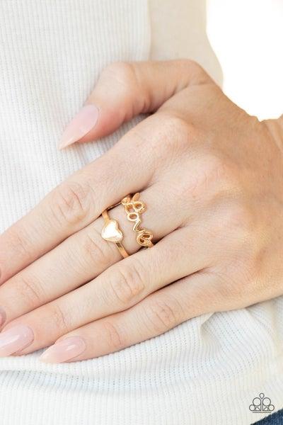 Heartstring Harmony Gold Ring