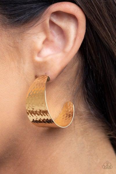 Flatten the Curve Gold Earring