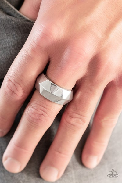 Industrial Mechanic Silver Ring