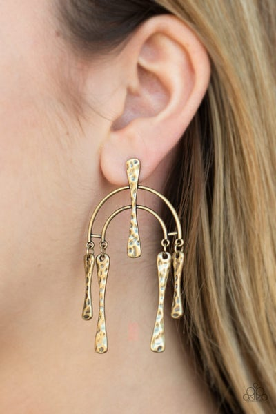 Artifacts Of Life Brass Post Earring
