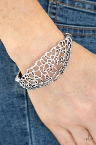 Airy Asymmetry Silver Bracelet